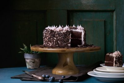 Picture of a cake in an interview with Elisabeth Brun